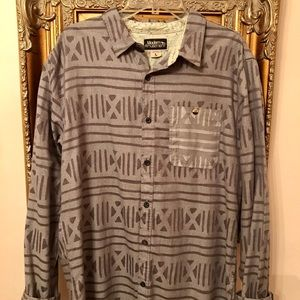 Modern Amusement Long Sleeve Button Up Size Large